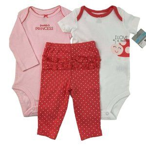 Carter's Girls 3 Piece Outfit Size 6M